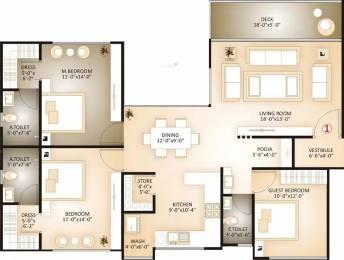 2147 sqft, 3 bhk Apartment in Happy Home Elanza Sagrampura, Surat at Rs. 1.0930 Cr