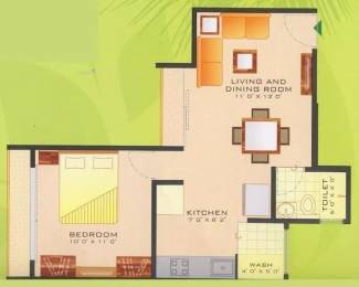 595 sqft, 1 bhk Apartment in Poddar Palm Enclave Makarba, Ahmedabad at Rs. 15000