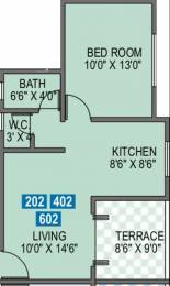 595 sqft, 1 bhk Apartment in Tyagi Brookside Vishrantwadi, Pune at Rs. 15000