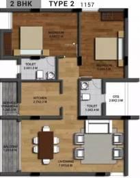 1157 sqft, 2 bhk Apartment in Invicon Silver Oak Guduvancheri, Chennai at Rs. 41.2951 Lacs