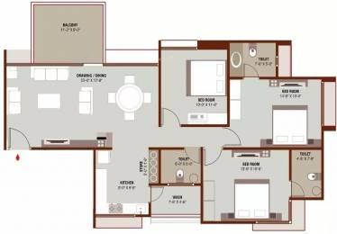 1701 sqft, 3 bhk Apartment in Ganesh Malabar County II Near Nirma University On SG Highway, Ahmedabad at Rs. 16000
