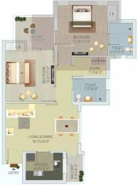 1027 sqft, 2 bhk Apartment in Stellar Jeevan Sector 1 Noida Extension, Greater Noida at Rs. 36.0000 Lacs