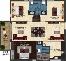 1650 sqft, 3 bhk Apartment in Ashoka Liviano Narsingi, Hyderabad at Rs. 1.0200 Cr