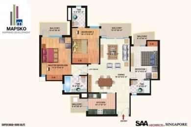 1690 sqft, 3 bhk Apartment in Mapsko Casa Bella Sector 82, Gurgaon at Rs. 77.0000 Lacs