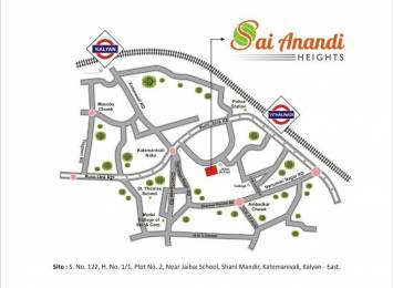 1019 sqft, 2 bhk Apartment in Saish Sai Anandi Heights Kalyan East, Mumbai at Rs. 63.1212 Lacs