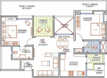1099 sqft, 2 bhk Apartment in F5 Nandini Spring Fields Manjari, Pune at Rs. 14500