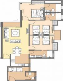 1320 sqft, 3 bhk Apartment in Jaypee Aman Sector 151, Noida at Rs. 12000