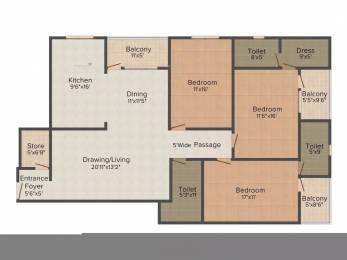 2255 sqft, 3 bhk Apartment in Unnati Park View Bani Park, Jaipur at Rs. 1.1500 Cr