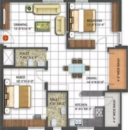 1155 sqft, 2 bhk Apartment in Sai Anandamai Uppal Kalan, Hyderabad at Rs. 10000