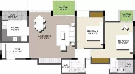 1425 sqft, 2 bhk Apartment in Spectra Raintree Banaswadi, Bangalore at Rs. 32000