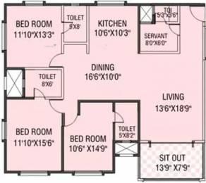 1735 sqft, 3 bhk Apartment in Aswani Rosary Sopan Baug, Pune at Rs. 1.8000 Cr