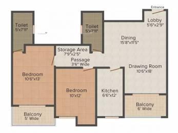 1250 sqft, 2 bhk Apartment in Ashiana Greens Sikar Road, Jaipur at Rs. 28.0000 Lacs