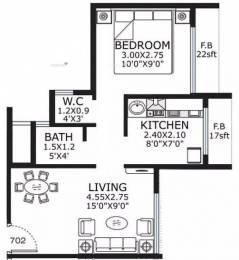 625 sqft, 1 bhk Apartment in Ami Planet Mercury Ulwe, Mumbai at Rs. 50.0000 Lacs