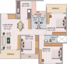 1650 sqft, 3 bhk Apartment in Akshar Greystone Ulwe, Mumbai at Rs. 15000