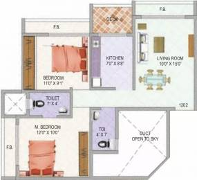 1035 sqft, 2 bhk Apartment in Tricity Sky Ulwe, Mumbai at Rs. 80.0000 Lacs
