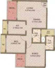 1050 sqft, 2 bhk Apartment in Tricity Pride Ulwe, Mumbai at Rs. 10000