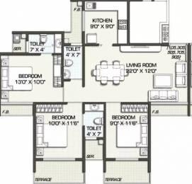 1515 sqft, 3 bhk Apartment in Kailash Pratik Renaissance Ulwe, Mumbai at Rs. 1.2500 Cr