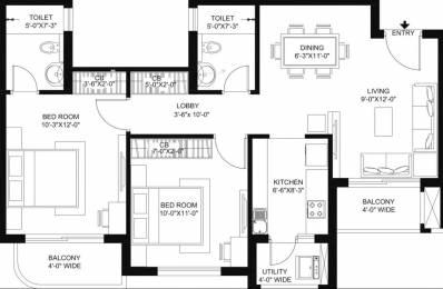 1095 sqft, 2 bhk Apartment in Radhey Casa Green Exotica Vrindavan Yojna, Lucknow at Rs. 35.0000 Lacs