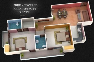 1080 sqft, 2 bhk Apartment in Builder Ganga Tower Raebareli Road, Lucknow at Rs. 22.6500 Lacs