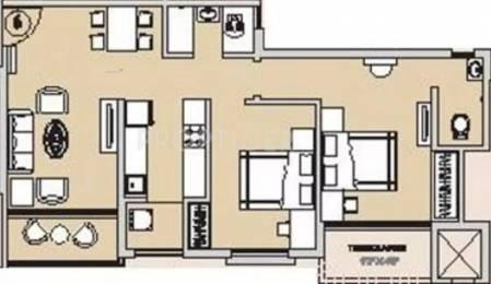 830 sqft, 2 bhk Apartment in Hubtown Countrywoods Kondhwa, Pune at Rs. 10000