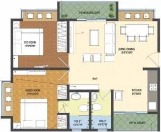 990 sqft, 2 bhk Apartment in Patel Smondo Gachibowli, Hyderabad at Rs. 75.6000 Lacs