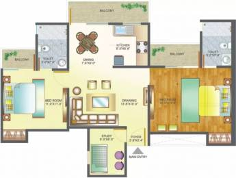 1125 sqft, 2 bhk Apartment in Amrapali Pan Oasis Sector 70, Noida at Rs. 56.5000 Lacs