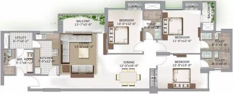 1702 sqft, 3 bhk Apartment in 3C Lotus Boulevard Sector 100, Noida at Rs. 26000