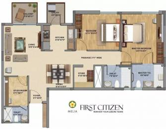 1500 sqft, 2 bhk Apartment in Silverglades The Melia Sector 35 Sohna, Gurgaon at Rs. 89.0000 Lacs