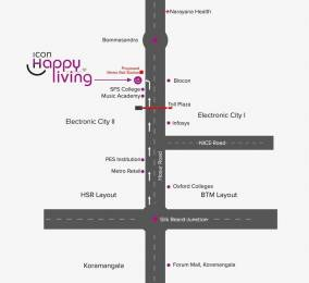 674 sqft, 2 bhk Apartment in Icon Happy Living Electronic City Phase 2, Bangalore at Rs. 35.0000 Lacs