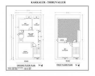 1100 sqft, 2 bhk BuilderFloor in Builder Project Tiruvallur, Chennai at Rs. 29.7500 Lacs