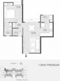 570 sqft, 1 bhk Apartment in Godrej Golf Meadows Godrej City Panvel, Mumbai at Rs. 47.0000 Lacs
