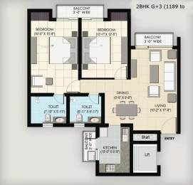 1189 sqft, 2 bhk Apartment in BPTP Park Floors II Sector 76, Faridabad at Rs. 36.0000 Lacs