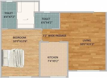 654 sqft, 1 bhk Apartment in Ceear Primo Bhandup West, Mumbai at Rs. 86.0000 Lacs