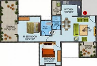 1240 sqft, 2 bhk Apartment in Phinix Elina Sus, Pune at Rs. 12000