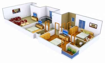 1915 sqft, 3 bhk Apartment in White Flamingo Bhimrad, Surat at Rs. 18000