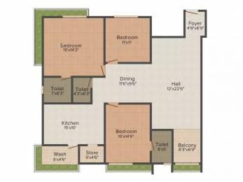 2412 sqft, 3 bhk Apartment in SNS Splendid Vesu, Surat at Rs. 35000