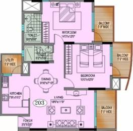 1400 sqft, 2 bhk Apartment in Hinduja Lake Front Estate Hulimavu, Bangalore at Rs. 24000