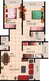 950 sqft, 2 bhk Apartment in Tharwani Riverdale Vista Kalyan West, Mumbai at Rs. 68.0000 Lacs