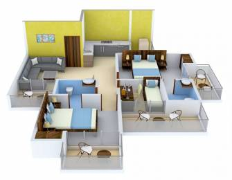 1295 sqft, 2 bhk Apartment in Apex Athena Sector 75, Noida at Rs. 60.0000 Lacs