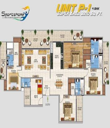 3210 sqft, 4 bhk Apartment in RSL Sports Home Sector 1 Noida Extension, Greater Noida at Rs. 1.0911 Cr