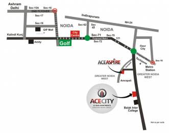 1530 sqft, 3 bhk Apartment in Ace City Sector 1 Noida Extension, Greater Noida at Rs. 50.3370 Lacs