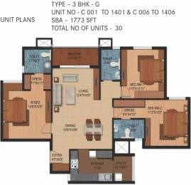 1773 sqft, 3 bhk Apartment in Century Breeze Kogilu, Bangalore at Rs. 1.0000 Cr