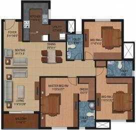 1865 sqft, 3 bhk Apartment in Century Breeze Kogilu, Bangalore at Rs. 1.0258 Cr