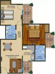 1020 sqft, 2 bhk Apartment in Supertech The Romano Sector 118, Noida at Rs. 45.0000 Lacs