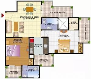 1100 sqft, 2 bhk Apartment in Techman Moti Residency Raj Nagar Extension, Ghaziabad at Rs. 29.0000 Lacs