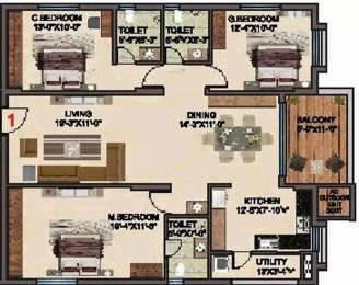 1755 sqft, 3 bhk Apartment in BRC Sri Hemadurga Sivahills Puppalaguda, Hyderabad at Rs. 87.4600 Lacs