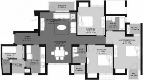 1815 sqft, 3 bhk Apartment in Unitech Fresco Sector 50, Gurgaon at Rs. 1.3000 Cr