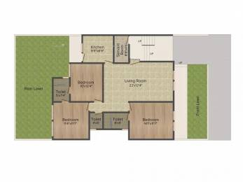 1380 sqft, 3 bhk Apartment in Emaar Emerald Floors Sector 65, Gurgaon at Rs. 1.2500 Cr