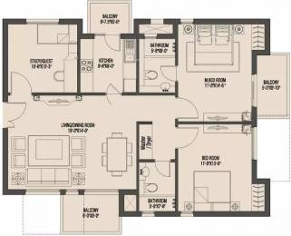1377 sqft, 2 bhk Apartment in Umang Monsoon Breeze Sector 78, Gurgaon at Rs. 10000