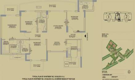 2308 sqft, 4 bhk Apartment in DLF The Primus Sector 82A, Gurgaon at Rs. 38000
